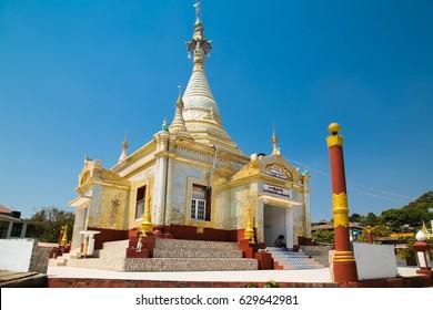 Kalaw budists pagoda in center of Kalaw market , Myanmar. (Burma)