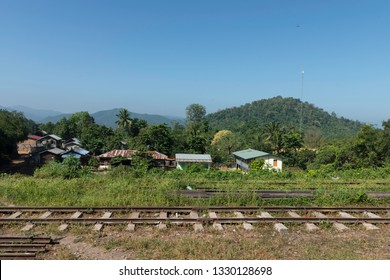 KALAW, MYANMAR - 23 NOVEMBER, 2018: Horizontal picture of small village located in the mountains close to Kalaw, Myanmar