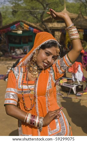 e4b20d3c53bf Kalbelia dancer from the Jaipur area of Rajasthan performing at the annual  Sarujkund Fair on the