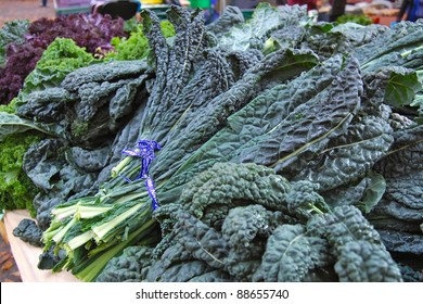 Kale Bunches at Farmer's Market