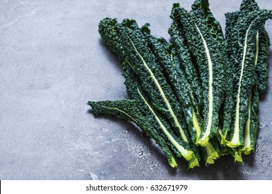 Kale cabbage leaves text space.