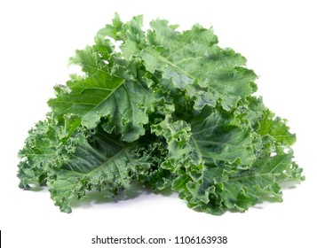 kale leafs vegetable isolated on white background