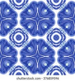 Kaleidoscope abstract background. Decorative seamless pattern texture can be used for printing onto fabric and paper
