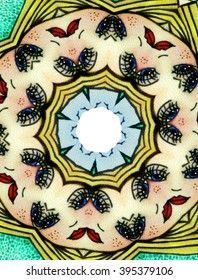 Kaleidoscope abstract face