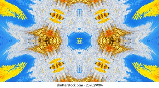 Kaleidoscopic abstract artistic colorful background for design