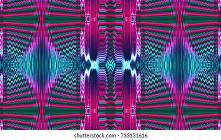 Kaleidoscopic multicolor patterns is computer graphics and can be used in the design of textiles, in the printing industry, in a variety of design projects