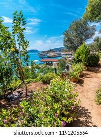 Kalekoy view in Kekova Gulf. Kekova is populer tourist destination in Turkey.