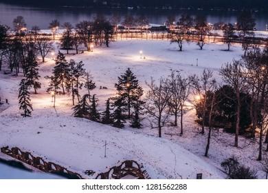 Kalemegdan Fortress on Christmass