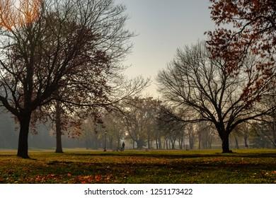 Kalemegdan park in Belgrade fortress, Belgrade, capital of Serbia