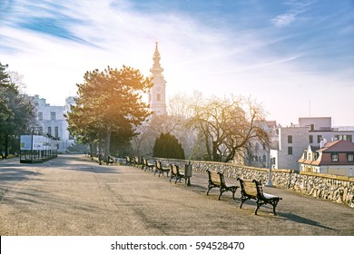 Kalemegdan park in early morning in Belgrade, Serbia