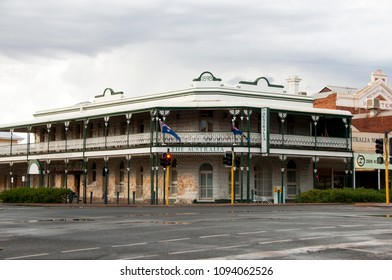 KALGOORLIE, AUSTRALIA - February 26, 2018: The Australia Hotel is a historic landmark with Federation style architecture