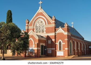 KALGOORLIE, AUSTRALIA - JANUARY 26, 2018: Historic buildings of the city of Kalgoorlie on January 26, 2018 in Western Australia