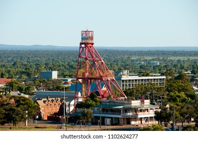 KALGOORLIE, AUSTRALIA - March 8, 2018:  View of Kalgoorlie Museum of the Goldfields with its adjacent Federal Hotel
