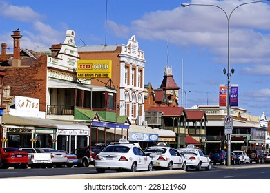 KALGOORLIE, AUSTRALIA - MAY 18: Architectural detail of the main avenue of the city of Kalgoorlie in Western Australia, may 18, 2007