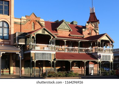 Kalgoorlie / Australia - Sep 26 2016: One of the beautiful historic houses built during the gold rush in the Western Australian goldfields