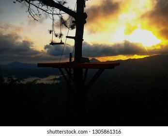 Kali Biru Jogja Sunset