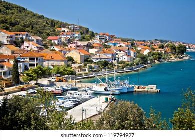 Kali - small fishermen town harbor, Island of Ugljan, Dalmatia, Croatia