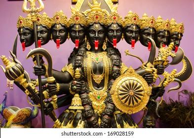 Kali statue inside ashram at thailand