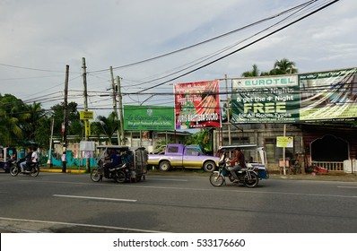 Kalibo, Philippines - Dec 16, 2015. Street in Boracay island, Philippines. Boracay Island and its beaches have received awards from numerous travel publications and agencies.