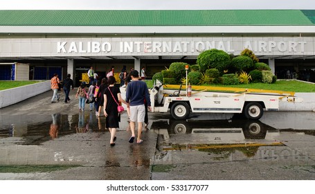 Kalibo, Philippines - Dec 16, 2015. People coming to the Kalibo International Airport in Kalibo, Philippines. Kalibo is the main transportation hub for the resort island of Boracay.