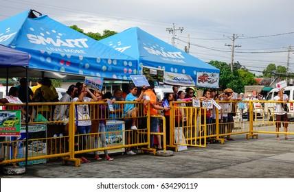 Kalibo, Philippines - Dec 16, 2015. People waiting at Kalibo International Airport in Kalibo city, Philippines.