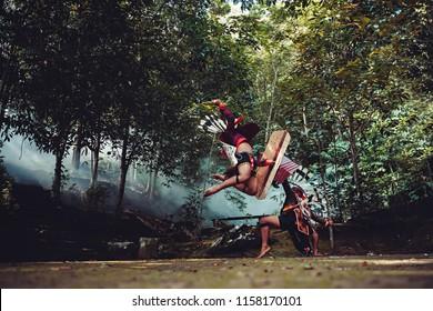 Kalimantan Dayak tribe war