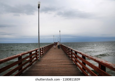 Kaliningrad, embankment, coast of the Baltic Sea