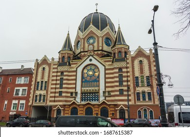 Kaliningrad, Kaliningrad Oblast / Russia - 12 22 2019: New Kaliningrad synagogue
