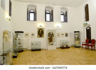 KALININGRAD, RUSSIA - JANUARY 16, 2020: A fragment of an exposition dedicated to Immanuel Kant. I. Kant Museum