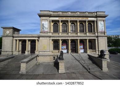 Kaliningrad, Russia, June 2019: Kaliningrad regional Museum of fine arts. Leninsky prospect 83. Kaliningrad.