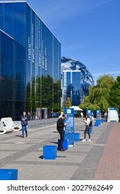 Kaliningrad, Russia - May 31 2021: The world ocean museum in Kaliningrad