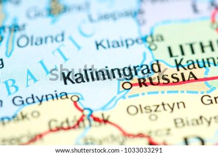 Kaliningrad Russia On Map Stock Photo Edit Now 1033033291