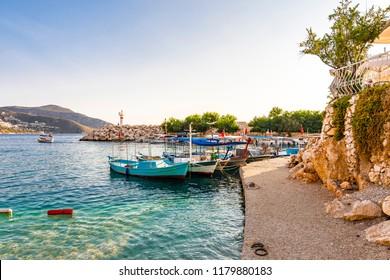 Kalkan Town Port in Turkey