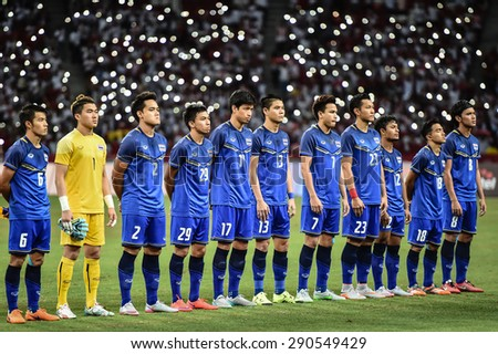 Kallang Singapore JUNE 15 Players Thailand U 23 Shot Stock Photo ... 80ad2fc88