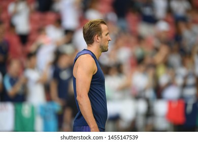Kallang-singapore-19jul2019-Harry kane player of tottenham hotspur in action during official training before icc2019 at national stadium,singapore