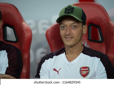 Kallang-Singapore-26Jul2018:Mesut ozil #10 player of arsenal in action during icc2018 between arsenal against at atletico de madrid at national stadium,singapore