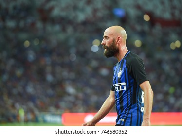 Kallang-SINGAPORE-29jul,2017:Iglesias borja Valero[b] Player of FC internazionale in action during icc 2017 against chelsea at national stadium,singapore
