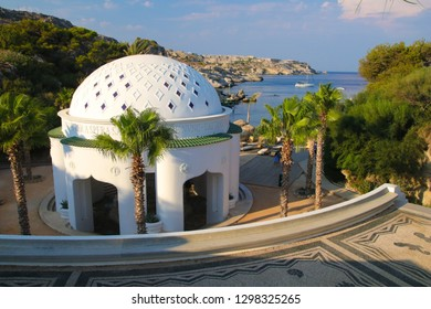 Kallithea Springs and thermes in Rhodos island Greece