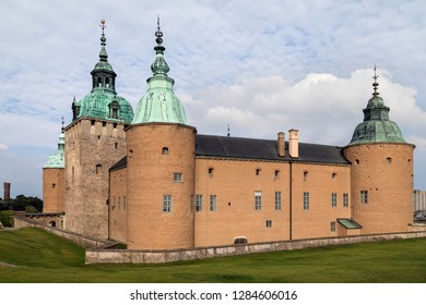 Kalmar. Sweden. 08.31.17. Kalmar Castle or Kalmar Slott - a castle in the city of Kalmar in the province of Smaland in Sweden. Parts of the castle date from the 12th century.