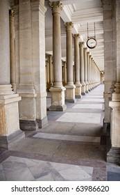 Kalovy Vary, the hall of the palace, Czech Republic