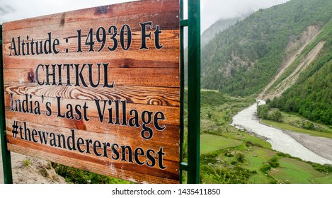 Kalpa, India - 18 June, 2018 - In Himachal Valley lies the tiny outpost of Chitkul Situated at the height of 3450 meters