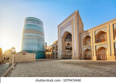 Kalta Minor minaret in Khiva, Khorezm Region, Uzbekistan