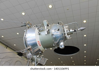 Kaluga, Moscow region / Russia - may, 10, 2019: exhibits and aircraft in the interior of the Museum of cosmonauts