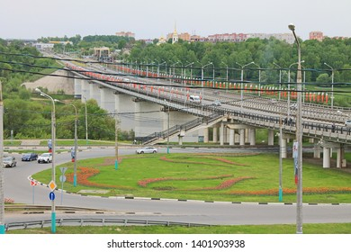 Kaluga, Moscow region / Russia - may, 10, 2019: views of the city on a cloudy spring day