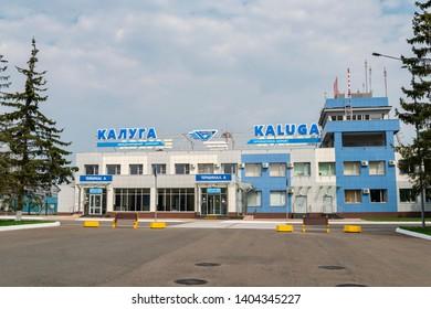 Kaluga, Russia - April 27 2019: international airport in Kaluga