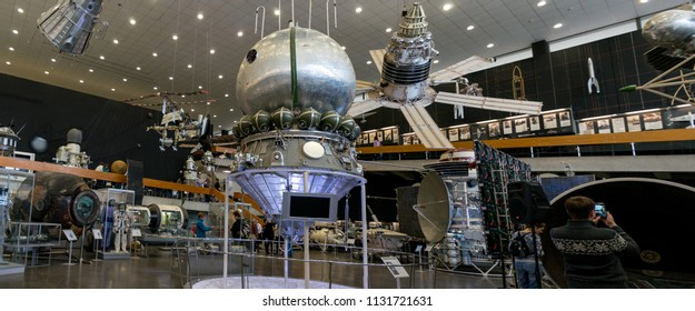 Kaluga, Russia, September 17, 2017: Interior of the Cosmonautics Museum in the city of Kaluga