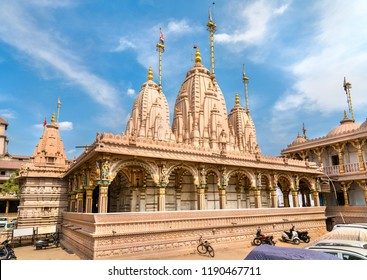 Kalupur Swaminarayan Mandir, a hindu temple in the old city of Ahmedabad - Gujarat State of India