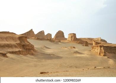 The Kaluts desert (e-lut) in Kerman