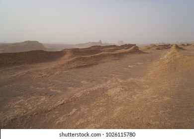"""Kaluts are sandy mountains that are formed as a result of desert """"wind"""" erosion and enchanting shapes are formed that leaves everyone bewildered for its unique beauty. In Lut Desert Iran"""