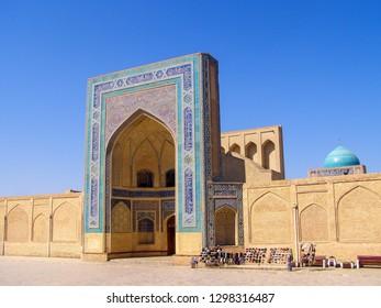Kalyan Minaret Great Minaret and Mosque is the main symbol of sacred Bukhara, Uzbekistan
